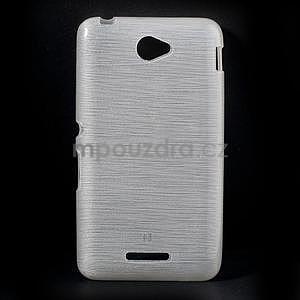 Brúsený gélový obal pre Sony Xperia E4 - biely - 1