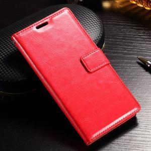 Francis PU kožené Peňaženkové puzdro pre Sony Xperia XZ - červené - 1