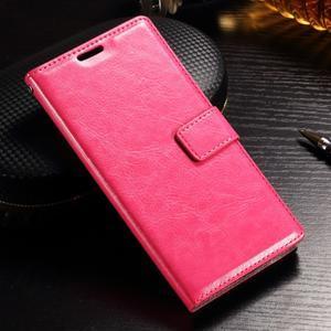 Francis PU kožené Peňaženkové puzdro pre Sony Xperia XZ - rose - 1