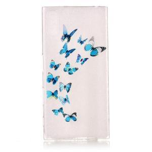 Emotive gélový obal pre mobil Sony Xperia XZ - motýľe - 1