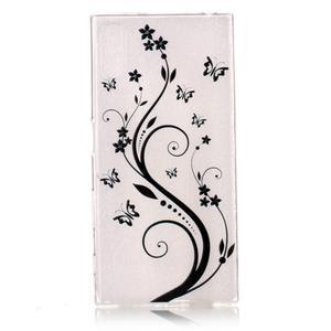Emotive gélový obal pre mobil Sony Xperia XZ - kvetinoví motýľe - 1