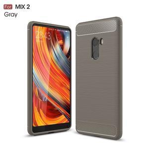 Carbon odolný gelový obal na Xiaomi Mi Mix 2 - sivý - 1