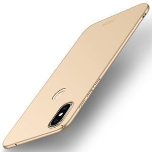 Slim plastový obal na mobil Xiaomi Mi Mix 2s - zlatý - 1