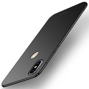 Slim plastový obal na mobil Xiaomi Mi Mix 2s - čierny - 1