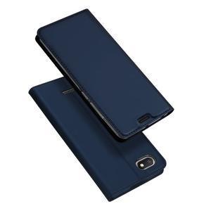 DUX PU kožené flipové puzdro na mobil Xiaomi Redmi 6A - modré - 1