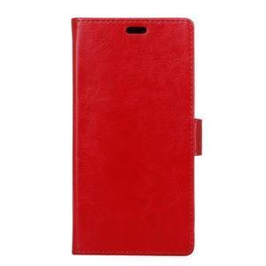 Horse PU kožené peňaženkové puzdro na mobil Xiaomi Redmi 6A - červené - 1