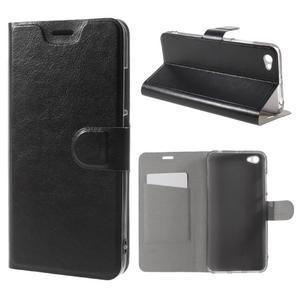 Horse PU kožené puzdro na Xiaomi Redmi Note 5A - čierne - 1