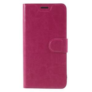 Horse PU kožené puzdro na Xiaomi Redmi Note 5A - rose - 1