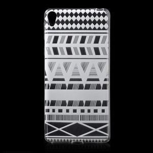 Ultratenký gélový obal pre Sony Xperia E5 - geo tvary - 1
