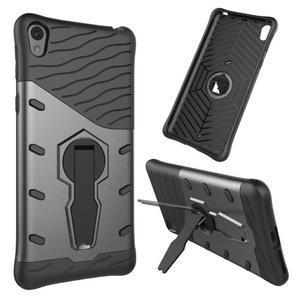 Armory odolný obal se stojánkem na Sony Xperia E5 - černý - 1