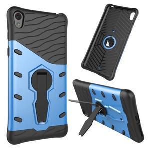 Armory odolný obal so stojanom na Sony Xperia E5 - modrý - 1