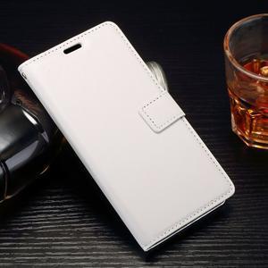 Horss PU kožené puzdro na Sony Xperia E5 - biele - 1