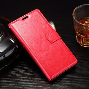 Horss PU kožené puzdro na Sony Xperia E5 - červené - 1