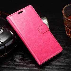 Horss PU kožené puzdro na Sony Xperia E5 - rose - 1