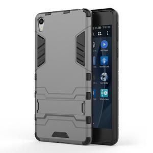 Outdoor odolný obal pre mobil Sony Xperia E5 - sivý - 1