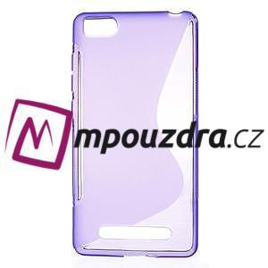 S-line gélový obal pre mobil Xiaomi Mi4c/Mi4i - fialový - 1
