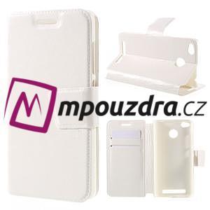 Horn PU kožené puzdro na Xiaomi Redmi 3 Pro - bílé - 1