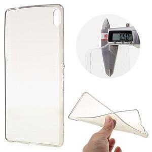 Ultratenký gelový obal na mobil Sony Xperia XA Ultra - šedý - 1