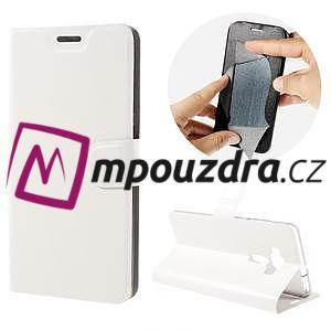 Horse PU kožené puzdro pre Asus Zenfone 3 Deluxe - biele - 1