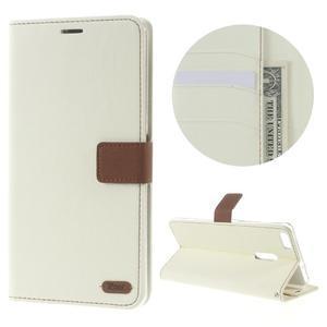 Diary peňaženkové puzdro pre mobil Asus Zenfone 3 Ultra - biele - 1