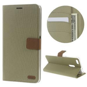 Diary peňaženkové puzdro pre mobil Asus Zenfone 3 Ultra - khaki - 1