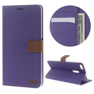 Diary peňaženkové puzdro pre mobil Asus Zenfone 3 Ultra - fialové - 1
