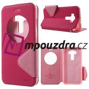 Diary puzdro s okýnkem na mobil Asus Zenfone 3 ZE520KL - rose - 1