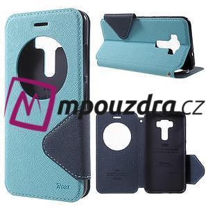 Diary puzdro s okýnkem na mobil Asus Zenfone 3 ZE520KL - světlemodré - 1