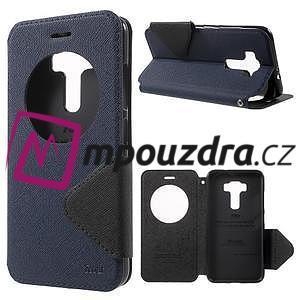 Diary puzdro s okýnkem na mobil Asus Zenfone 3 ZE520KL - tmavěmodré - 1