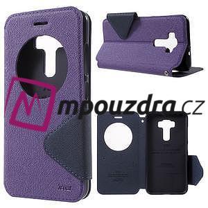 Diary puzdro s okýnkem na mobil Asus Zenfone 3 ZE520KL - fialové - 1