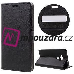Leathy peňaženkové puzdro na Asus Zenfone 3 ZE520KL - čierne - 1