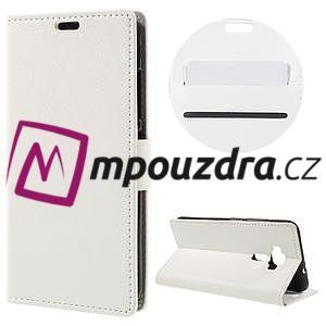 Leathy peňaženkové puzdro na Asus Zenfone 3 ZE520KL - biele - 1