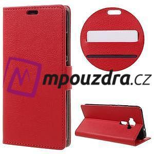 Leathy peňaženkové puzdro pre Asus Zenfone 3 ZE520KL - červené - 1