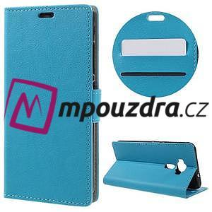 Leathy peňaženkové puzdro pre Asus Zenfone 3 ZE520KL - svetlomodré - 1