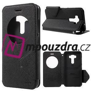 Diary puzdro s okýnkem na mobil Asus Zenfone 3 ZE520KL - čierne - 1
