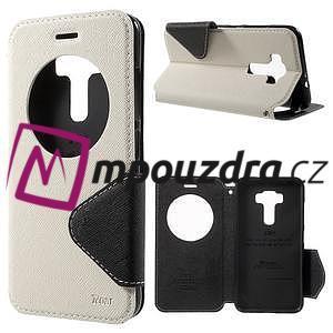 Diary puzdro s okýnkem na mobil Asus Zenfone 3 ZE520KL - biele - 1