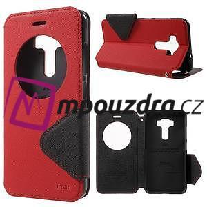 Diary puzdro s okýnkem na mobil Asus Zenfone 3 ZE520KL - červené - 1