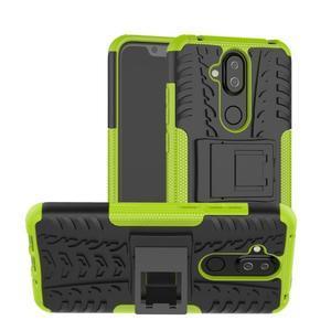 Kick odolný hybridný obal na Nokia 8.1 - zelený - 1
