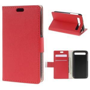 Peňaženkové puzdro pre mobil BlackBerry Classic - červené - 1