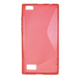 S-line gelový obal na mobil BlackBerry Leap - červený - 1