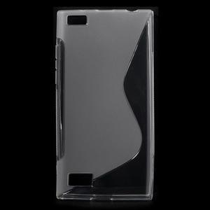 S-line gélový obal pre mobil BlackBerry Leap - transparentný - 1