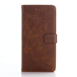 PU kožené peněženkové pouzdro na BlackBerry Leap - coffee - 1