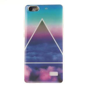 Gélový obal pre mobil Honor 4C - triangl - 1