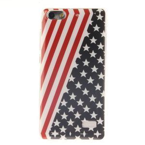 Gelový obal na mobil Honor 4C - americká vlajka - 1