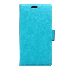 Horse peněženkové koženkové pouzdro na Huawei Honor 5X - modré - 1