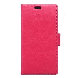 Horse peněženkové koženkové pouzdro na Huawei Honor 5X - rose - 1