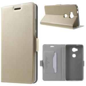 Peněženkové PU kožené pouzdro na mobil Honor 5X - champagne - 1