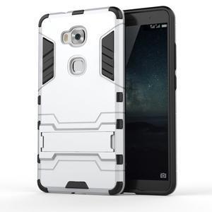 Outdoor odolný kryt pre mobil Honor 5X - strieborny - 1