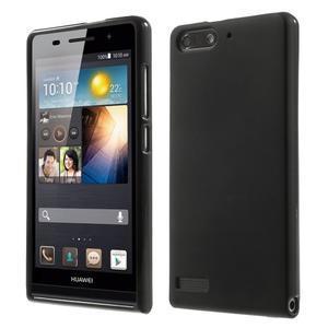 Matné gélové puzdro na Huawei Ascned G6 - čierné - 1