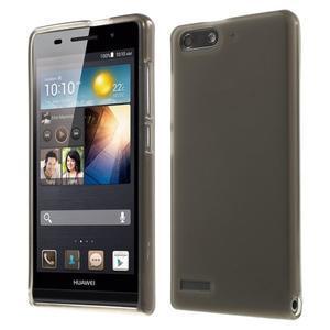 Matné gélové puzdro na Huawei Ascned G6 - sivé - 1